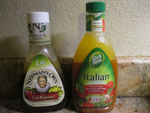 Lite Balsamic and Italian dressing