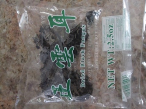 The Cloud Ear variety of the Chinese black fugus in package