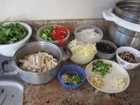 All prepared vegetables