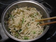Dad's Pickled Mustard Tuber Scallion Oil Noodle