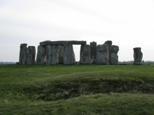 Stonehenge from the northeast entrance in the evening