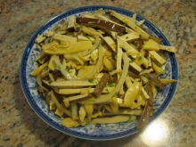 Dry Bean Curd Oil Bamboo Shoots Salad